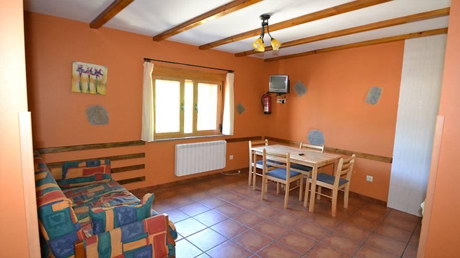 Salón de uno de los apartamentos Doña Petra