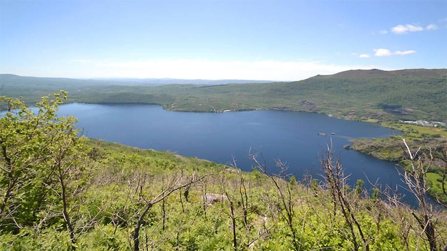 El Lago de Sanabria desde arriba