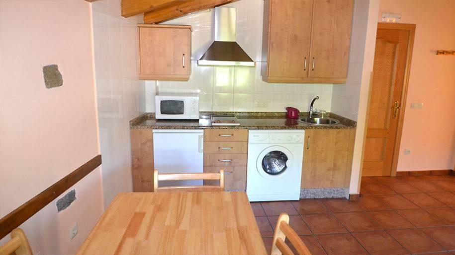 Cocina en los apartamentos Doña Petra